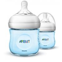 Philips Avent Natural Blue Feeding Bottles Twin Pack 4oz/125ml